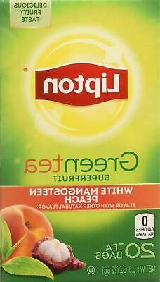 Lipton Green Tea White Mangosteen Peach 20 ct  20 Co... Free