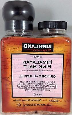 Kirkland Signature Himalayan Pink Salt Grinder with Refill -