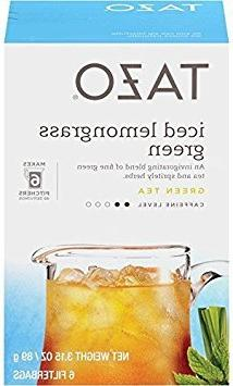 Tazo Iced Tea, Lemongrass Green, 6 pk, .52 oz