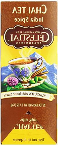 Celestial Seasonings Chai Tea, India Spice, 25 Count