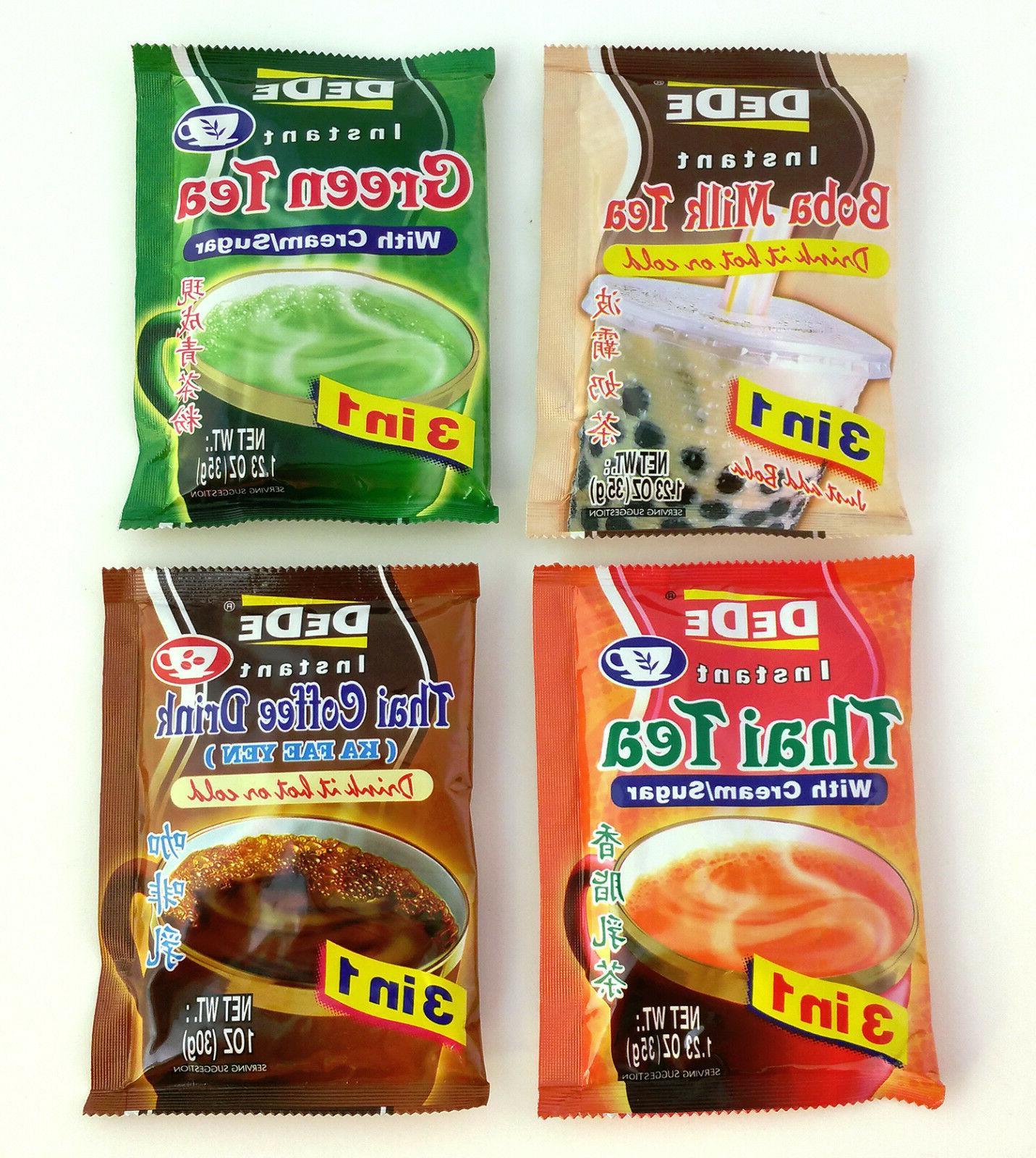 DEDE Instant Boba Milk Tea / Green Tea / Thai Tea / Thai Cof