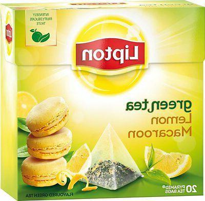 lemon macaroon flavored green tea 20 silk
