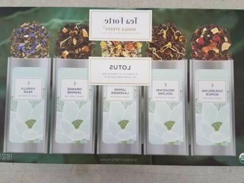 Tea Forte Lotus Single Steep Kati Cup-black herbal green whi