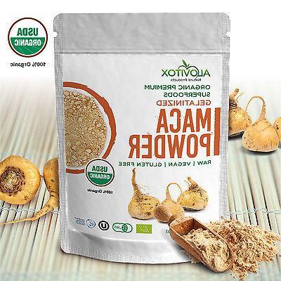 Maca Gelantized Powder Natural Energy Organic Raw Gluten Fre