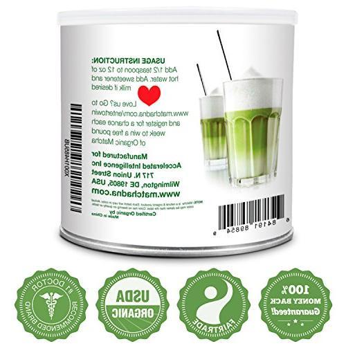 MatchaDNA 1 LB Certified Organic Powder