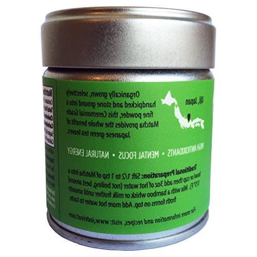 Matcha Green Tea Organic - Japanese Grade Antioxidants, Boost - Jade Leaf Brand