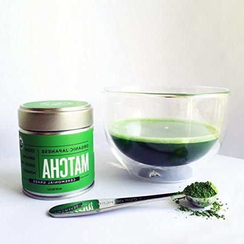 Matcha Green Tea Powder Grade Antioxidants, Boost Jade Leaf Brand