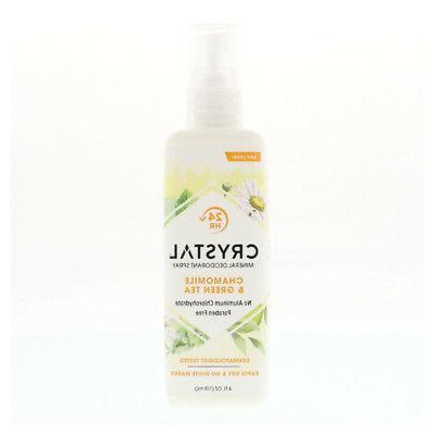 Crystal Essence Mineral Deodorant Body Spray Chamomile And G