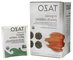 Tazo Organic Black Tea Peach Cobbler 20 Bags, 0.37 Pound