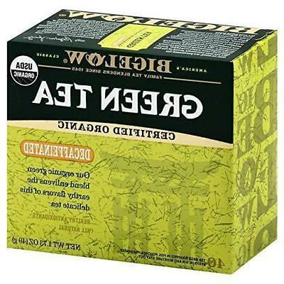 organic decaffeinated green tea 40
