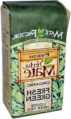 Organic Fresh Green Yerba Mate 12 oz Mate Factor Loose Herb