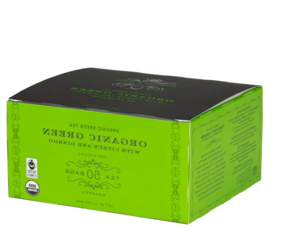 Harney & Sons Fine Teas Organic Green Tea, Citrus & Ginkgo,