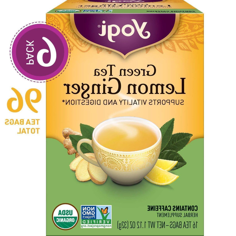 YOGI Organic Green Lemon Ginger Tea 16 BAG