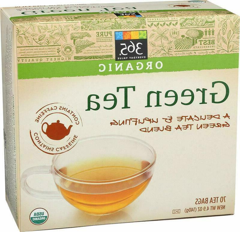 365 Everyday Value Organic Green Tea 70 Tea Bags 4.9 Oz Vega