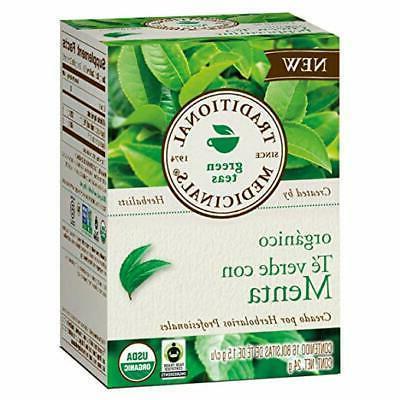 Traditional Medicinals Organic Green Tea, Peppermint, 16 Cou