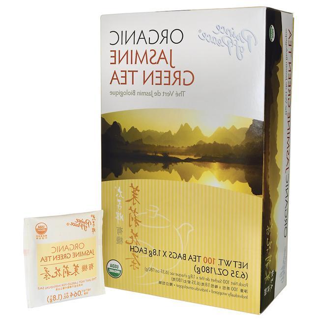 organic jasmine green tea 100 bag s