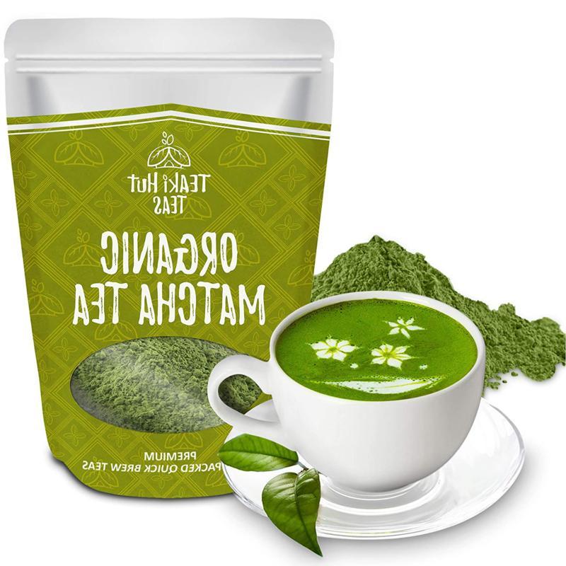 TEAki Matcha Green Tea Powder 2 oz , Ex