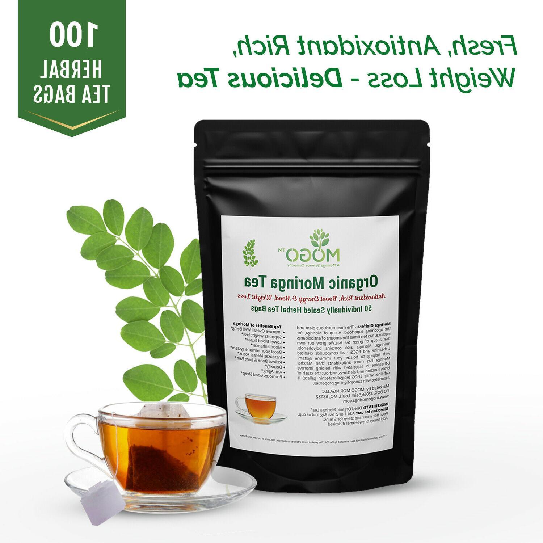 🔥Organic Moringa Tea 2 pack Special 100 Tea Bags.Energy B