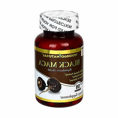 Peru Black Maca 1500 mg 120 Caps Energizing Herb Rich in Sap