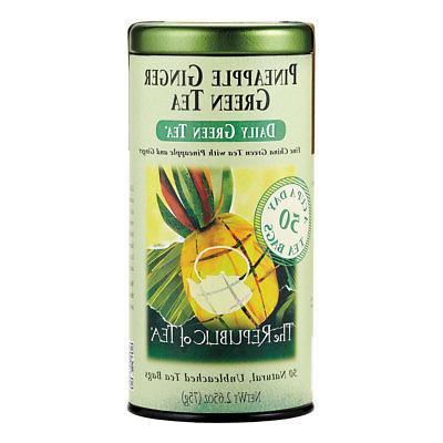 The Republic of Tea, Pineapple Ginger Green Tea, 50-Count