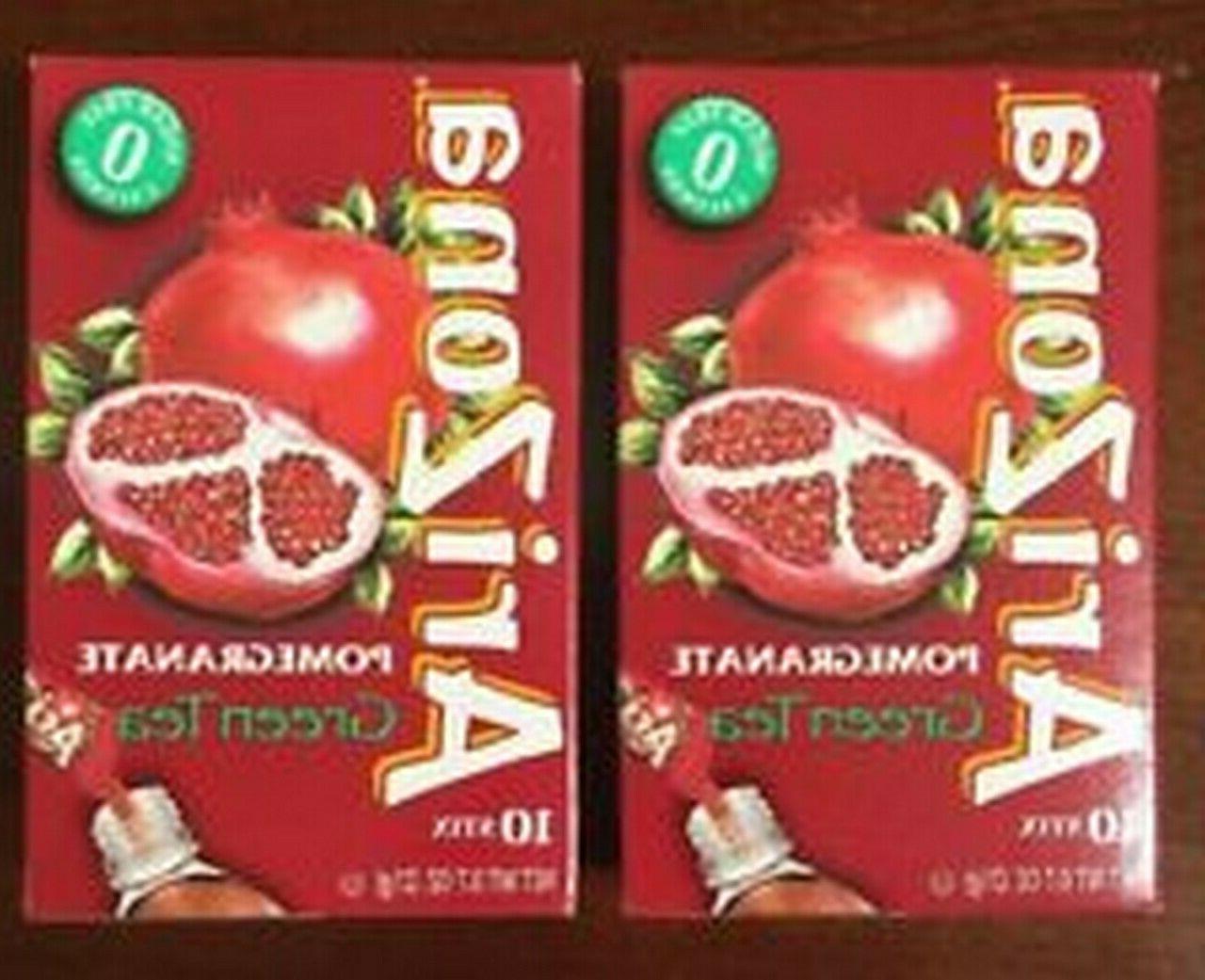pomegranate green tea stix 2 boxes of