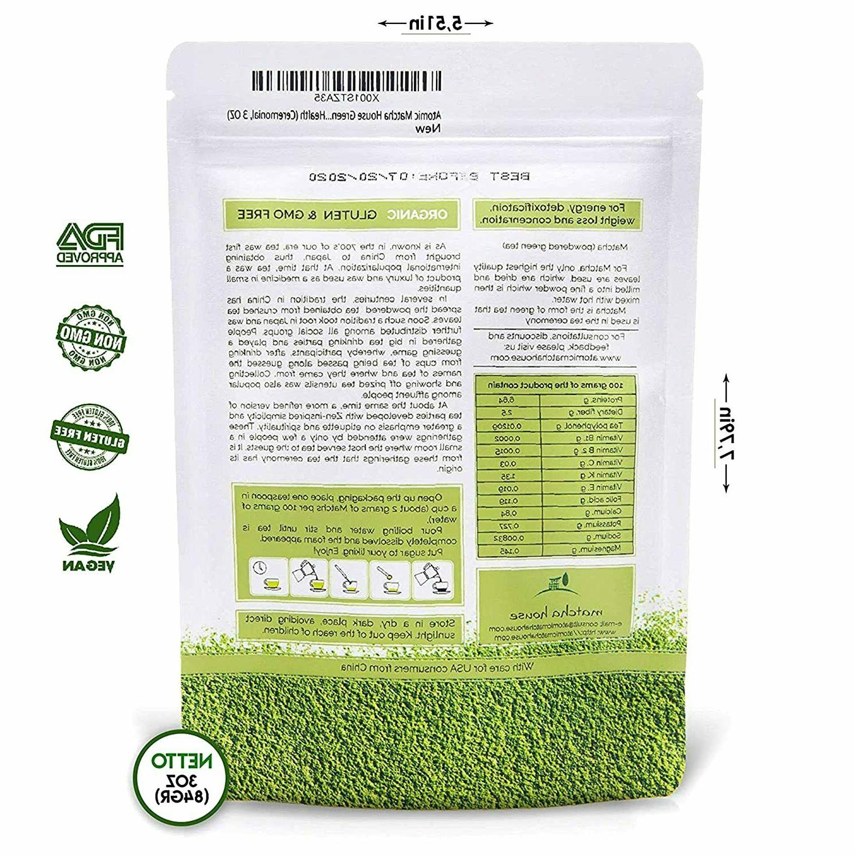 Matcha House Premium Grade Green Tea 84g, 3oz