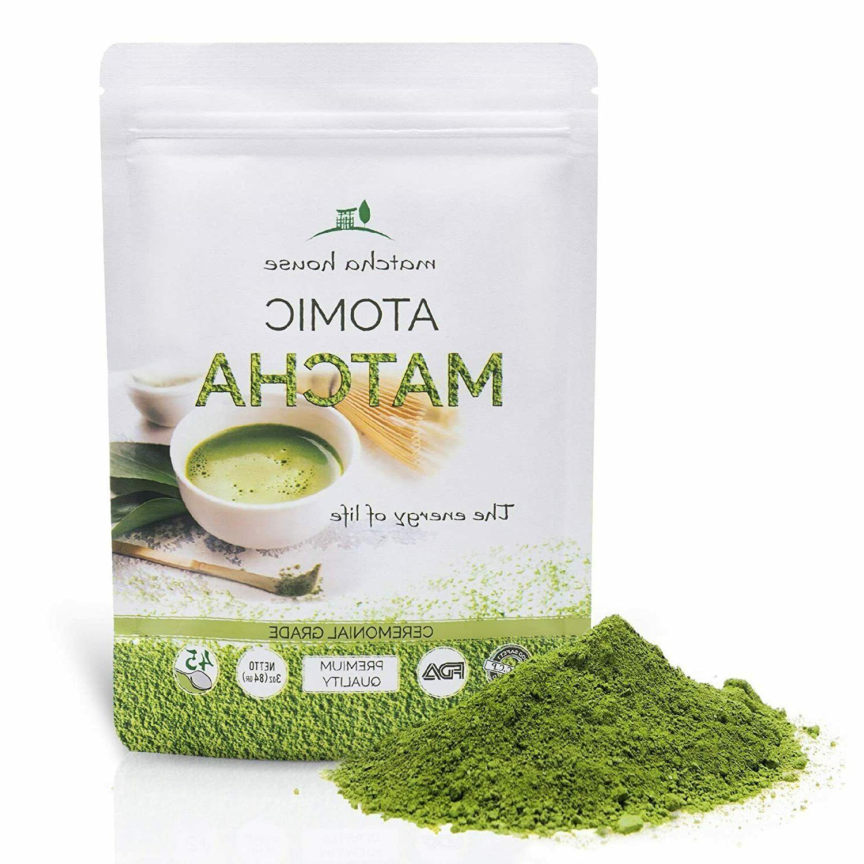 premium ceremonial grade green tea powder 84g