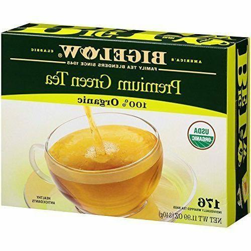 BIGELOW® Premium Organic Green Tea 100% Organic - 176 ct.