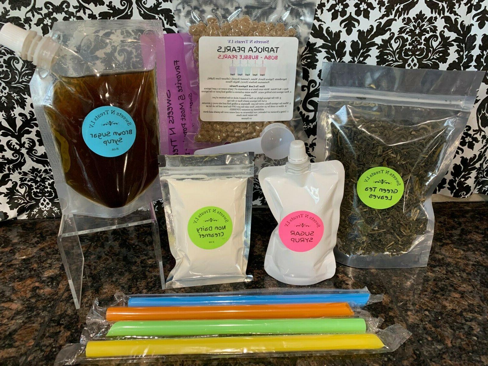 Premium Original Green Tea Boba Kit Classic Milk NEW