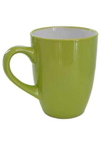 Set 4 Two-Tone Green Porcelain inside Tea Coffee Mugs