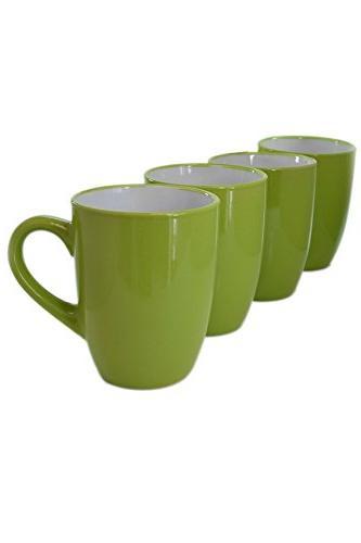Set High Glaze Two-Tone inside Coffee Mugs