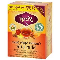 Yogi Snack Tea 100% Natural Tea Caramel Apple Spice - 16 Tea