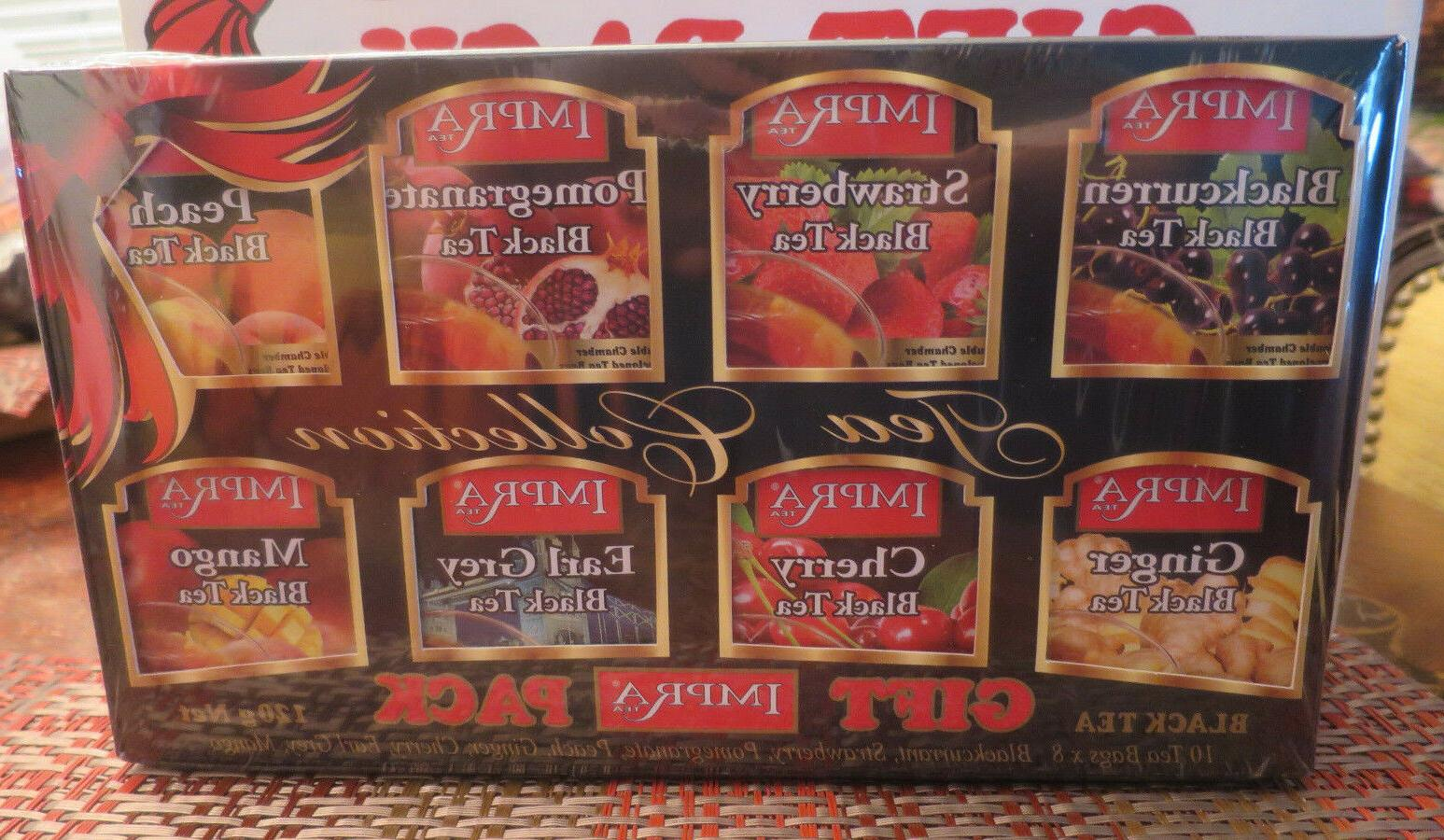 Impra Tea Gift Box Black, Red or Green box Collection 80 bag