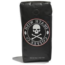 Death Wish Whole Bean Coffee - Fair Trade and USDA Organic -