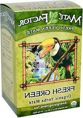 The Mate Factor Yerba Mate Energizing Herb Tea Bag, Organic