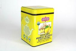 Brew La La Organic Green Tea - Natural Ginger Lemon Flavor -