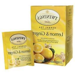 Twinings Lemon & Ginger Tea, 20 ea