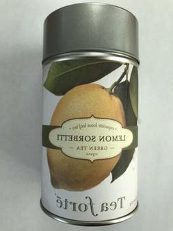 TEA FORTE LEMON SORBETTI GREEN TEA ORGANIC LOOSE 2.12 OZ NEW