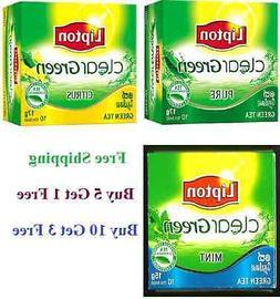 Lipton Green Tea 10,20 Bags Citrus Clear MInt