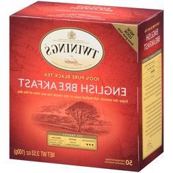 Twinings Of London English Breakfast Tea Bags, 50 ct