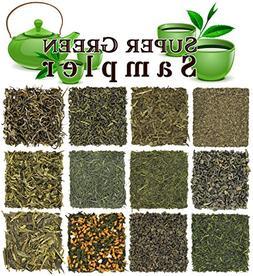 Loose Leaf Green Tea Sampler - Gunpowder Green Tea, Dragonwe