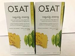 Lot of 2 Tazo Green Ginger Tea Bags  24 Count Boxes 48 Total