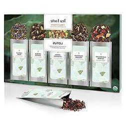 Tea Forte LOTUS Single Steeps Organic Loose Leaf Tea Sampler