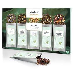 Tea Forte LOTUS Single Steeps Organic Loose Leaf Tea Sampler