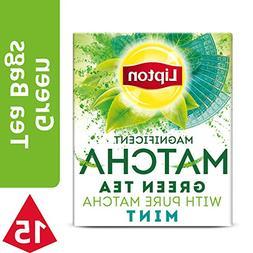 Lipton Magnificent Matcha Green Tea Bags, Mint 15 ct