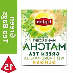 Lipton Magnificent Matcha Green Tea Bags, Ginger 15 ct