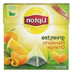 LIPTON Mandarin Orange Flavored Green Tea 20 Silk Pyramid Ba