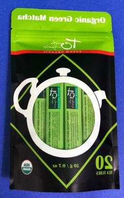 Touch Organic Matcha Green Tea Individually Packed 20 Tubes