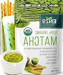 Matcha Green Tea Powder 4oz - Organic Vegan Milky Taste USDA