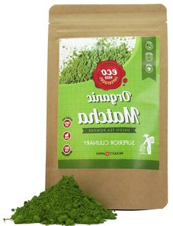 Matcha Green Tea Powder 100g - USDA Organic - Premium Qualit